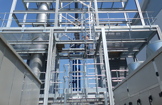 Large-scale temperature and humidity control for industrial paint booths